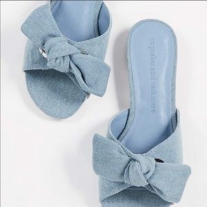 Cupcakes and cashmere denim sandals s7 never worn